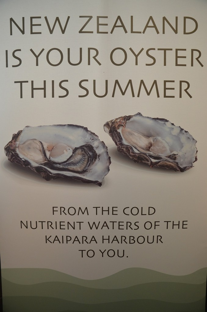 NZ oysters married well with Long Table Distillery's locally-produced spirits.