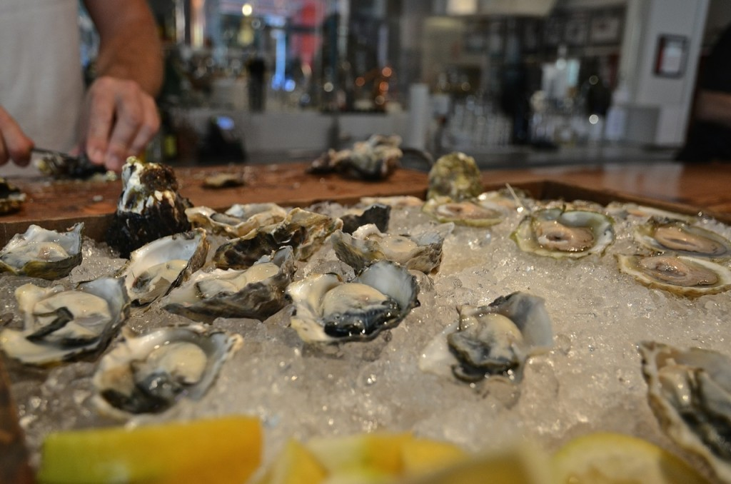 The oysters disappeared faster than the shucker could shuck them!