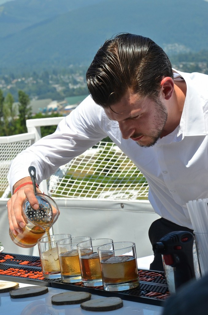 The Clough Club's Seam McGuigan was the first winner of the Cocktail Jockey Mixology Competition