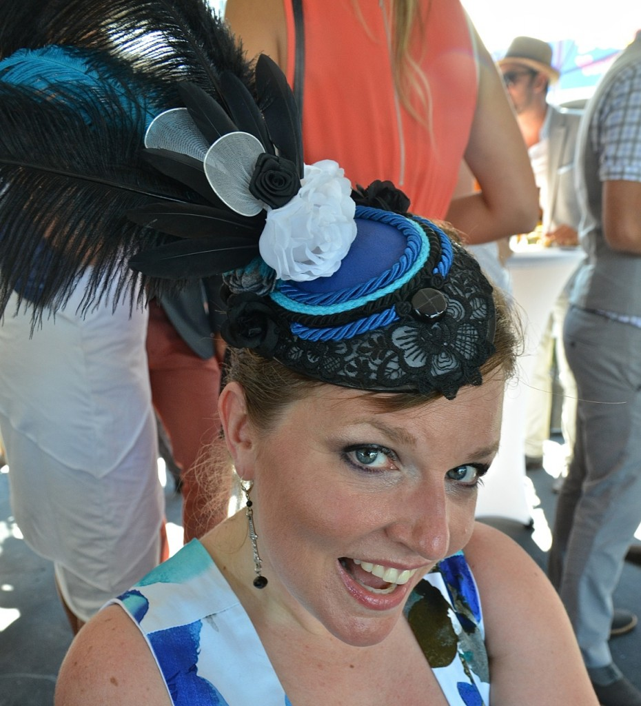 My friend Kerry sported a custom-made hat.