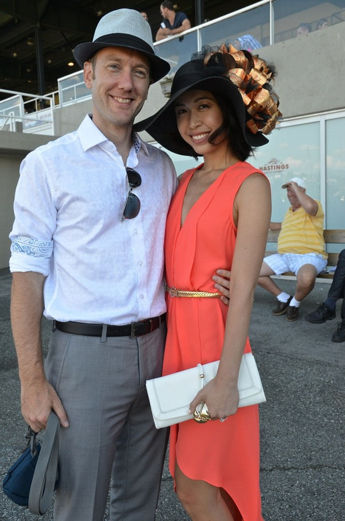 A stunner of a hat - and an obliging, friendly couple.